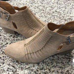 Tan booties Franco Sarto